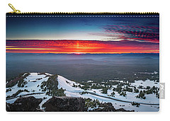 Carry-all Pouch featuring the photograph The Burning Clouds At Crater Lake by William Lee