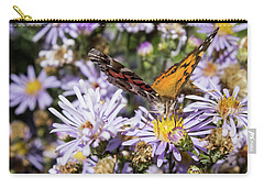 The Butterfly And Flowers Carry-all Pouch by Steven Parker