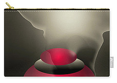 Carry-all Pouch featuring the digital art The Button--  Something To Think About by John Krakora