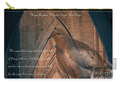 the Caged Bird Sings - Maya Angelou inspiring quote Carry-all Pouch