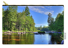 Carry-all Pouch featuring the photograph The Calm Below Buttermilk Falls by David Patterson