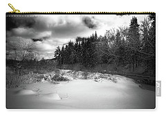 Carry-all Pouch featuring the photograph The Calm Of Winter by David Patterson