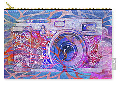 Carry-all Pouch featuring the digital art The Camera - 02c3t by Variance Collections