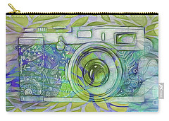 Carry-all Pouch featuring the digital art The Camera - 02c5b by Variance Collections