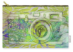 Carry-all Pouch featuring the digital art The Camera - 02c5bt by Variance Collections