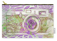 Carry-all Pouch featuring the digital art The Camera - 02c6 by Variance Collections
