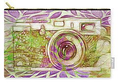 Carry-all Pouch featuring the digital art The Camera - 02c6t by Variance Collections