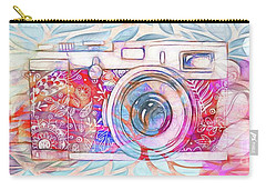 Carry-all Pouch featuring the digital art The Camera - 02c8v2 by Variance Collections