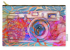 Carry-all Pouch featuring the digital art The Camera - 02v2 by Variance Collections