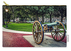 Carry-all Pouch featuring the photograph The Cannon In The Park by Kendall McKernon
