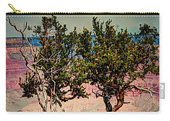 Carry-all Pouch featuring the photograph The Canyon Tree by Tom Prendergast