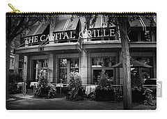 The Capital Grille In Black And White Carry-all Pouch