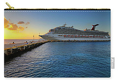 The Carnival Freedom At Sunset - Cozumel - Mexico Carry-all Pouch