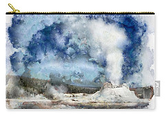 The Castke Geyser In Yellowstone Carry-all Pouch