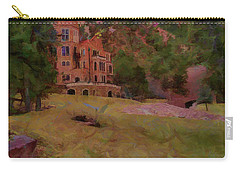 Carry-all Pouch featuring the digital art The Castle by Ernie Echols