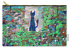 Carry-all Pouch featuring the painting The Cat In The Garden by Fabrizio Cassetta