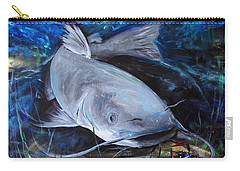 The Catfish And The Crawdad Carry-all Pouch by J Vincent Scarpace