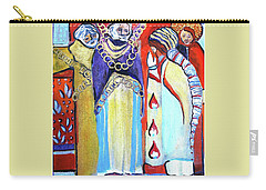 Carry-all Pouch featuring the painting The Chains That Bind Us To Christ by Mindy Newman
