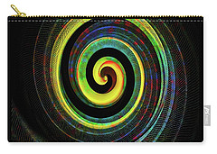 Carry-all Pouch featuring the digital art The Chameleon Snake Skin by Steve Taylor