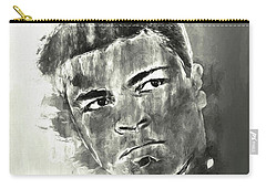 Carry-all Pouch featuring the digital art The Champ Monochrome by Jack Torcello