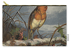 The Christmas Carol Singer Carry-all Pouch by Harrison William Weir