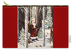 The Christmas Forest Visitor 2 Carry-all Pouch