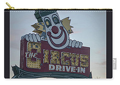 Carry-all Pouch featuring the photograph The Circus Drive In Sign Wall Township Nj by Terry DeLuco