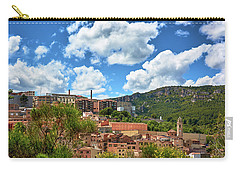 Carry-all Pouch featuring the photograph The City Of Tarragona And A Beautiful Sky by Eduardo Jose Accorinti