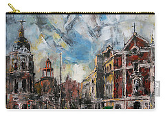 The City Touched By The Sunset Carry-all Pouch