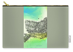 Carry-all Pouch featuring the painting The Cliffs by Lenore Senior