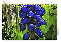 The Cobalt Blue Flowers And The Long Green Grass Carry-all Pouch