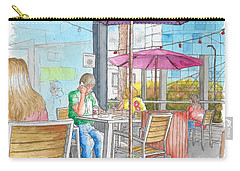 The Coffee Bean In Sunset Blvd Acroos Directors Guild, West Hollywood, California Carry-all Pouch by Carlos G Groppa