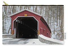 The Colemansville Covered Bridge In Winter Carry-all Pouch