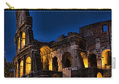 The Coleseum In Rome At Night Carry-all Pouch
