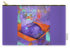 The Color Purrrple Carry-all Pouch by Nancy Jolley