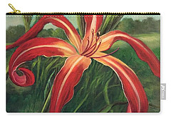 Carry-all Pouch featuring the painting Triumph Of Red by Randol Burns