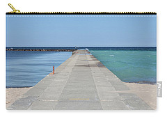Carry-all Pouch featuring the photograph The Colors Of Lake Michigan by Fran Riley