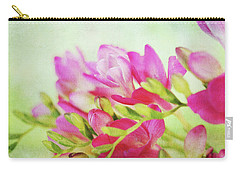 Carry-all Pouch featuring the photograph Colour Full Freesia by Connie Handscomb