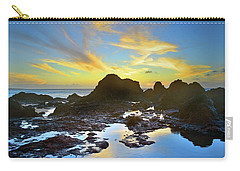 Carry-all Pouch featuring the photograph The Colours Amongst Sea, Sky And Stone by Tara Turner