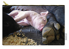 Carry-all Pouch featuring the photograph The Comfort Of Mom by Robert Geary