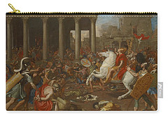 The Conquest Of Jerusalem By Emperor Titus By Nicolas Poussin, 1638. Carry-all Pouch