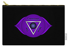 Carry-all Pouch featuring the digital art The Conscious Mind - Brow Chakra Art Print - Conscious Quote Prints  by Ai P Nilson