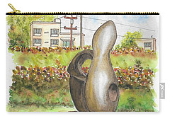 The Conversation, Sculpture By Alex Mccrae In Roxbury Park, Beverly Hills, California Carry-all Pouch