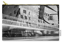 Carry-all Pouch featuring the photograph The Cooper Union Nyc Bw by Susan Candelario