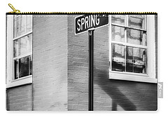 The Corner Of Winter And Spring Bw Carry-all Pouch