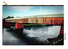 The Cornish-windsor Covered Bridge  Carry-all Pouch