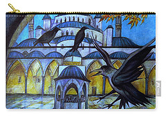 The Courtyard Of The Blue Mosque At Dusk Carry-all Pouch