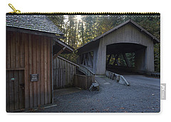 The Covered Bridge At Cedar Creeks Grist Mill Carry-all Pouch