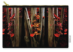 Carry-all Pouch featuring the photograph The Crimson Forest by Jessica Jenney