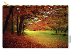Carry-all Pouch featuring the painting The Crimson Season P D P by David Dehner